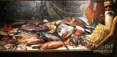 Hawaiian Fish Painting - Study Of Hawaiian Fish by Pg Reproductions