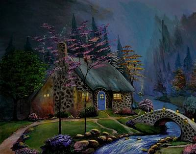 Painting - Study Of Kinkade Style Of Painting by Stefon Marc Brown