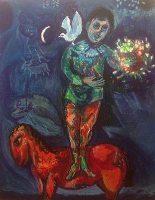 Wall Art - Pastel - Study Of Marc Chagall's Child With A Dove by Kerrie B Wrye