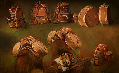 Study Of Pack Saddles And Other Objects Art Print