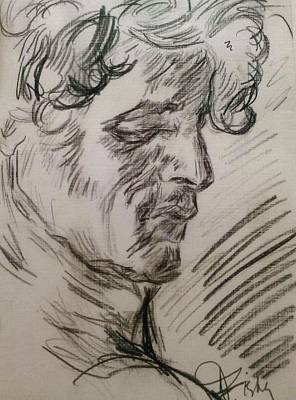 Drawing - Study Of Richard by Dawn Fisher