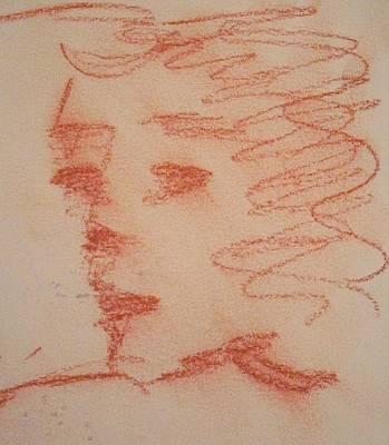 Pastel - Study Of Sanguine by Michelle Deyna-Hayward