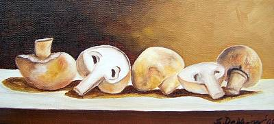 Painting - Study Of Shrooms--sold by Susan Dehlinger