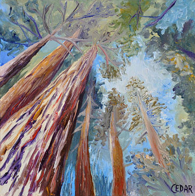 Study Of Walk Under Redwoods Original