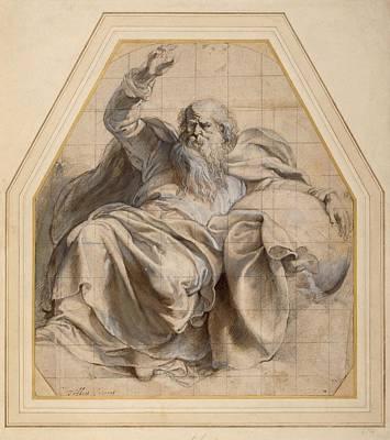 Gestures Drawing - Study Of Zacchariah by Peter Paul Rubens