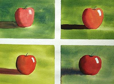 Painting - Study Red And Green by Richard Faulkner
