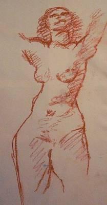 Pastel - Study Sanguine by Michelle Deyna-Hayward