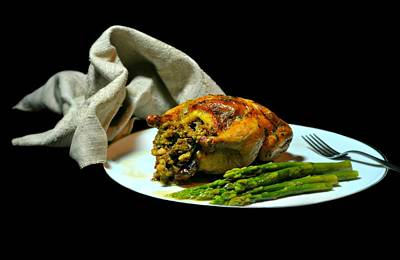 Stuffed Cornish Hen Print by Diana Angstadt