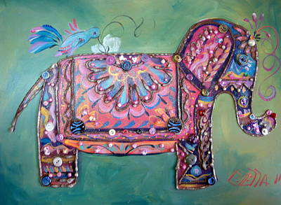 Stuffy The Elephant Art Print