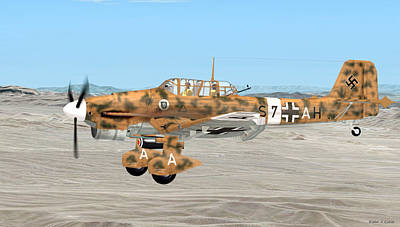 Digital Art - Stuka Dive Bomber by Walter Colvin