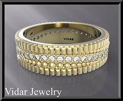 14k Jewelry - Stunning 14k Yellow Gold Unisex Wedding Ring by Roi Avidar