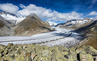 Photograph - Stunning Aletsch Glacier In The Swiss Alps Switzerland by Matthias Hauser