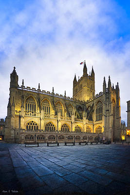 Photograph - Stunning Beauty Of Bath Abbey At Dusk by Mark E Tisdale
