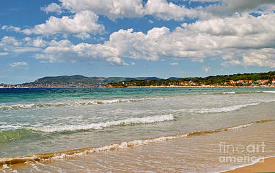 Turquois Water Photograph - Stunning Clouds Over Cote Dazur by Maja Sokolowska