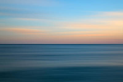 Water Filter Photograph - Stunning Long Exposure Seascape Image Of Calm Ocean At Sunset by Matthew Gibson