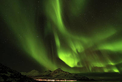 Photograph - Stunning Northern Lights In Tromso by L. Toshio Kishiyama
