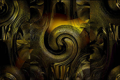 Digital Art - Stunning Shimmering Abstract by Gillian Owen