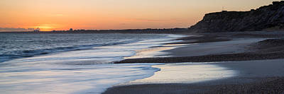 Erene Photograph - Stunning Sunset Over Beach Long Exposure Landscape by Matthew Gibson