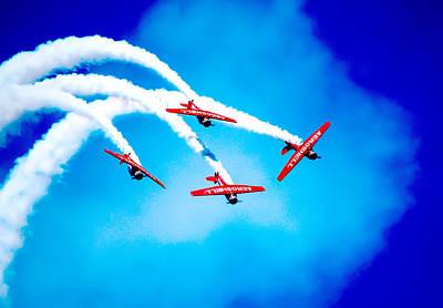 Backflip Photograph - Stunt Aircraft by John Caloia