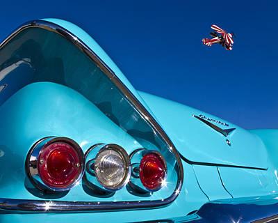 Chevrolet Trunk Photograph - Stunt Plane Meets 58 Chevy by Carter Jones