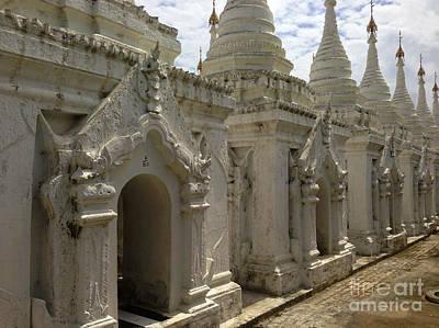 Art Print featuring the photograph Stupas With Buddhist Inscription Slabs Sandamuni Pagoda Mandalay Burma by Ralph A  Ledergerber-Photography