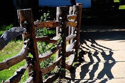 Photograph - Sturbridge Village Fences by Jacqueline M Lewis