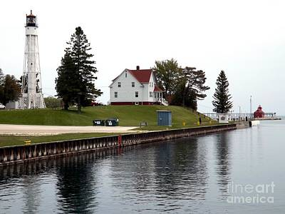 Movie Tees - Sturgeon Bay Ship Canal Lighthouse by Deb Schense