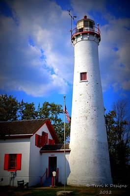 Sturgeon Point Lighthouse Michigan Art Print by Terri K Designs