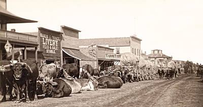 Conestoga Photograph - Sturgis South Dakota C. 1890 by Daniel Hagerman