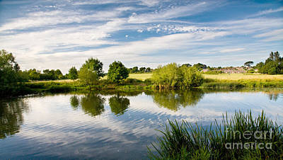 Newton Digital Art - Sturminster Newton - River Stour - Dorset - England by Natalie Kinnear