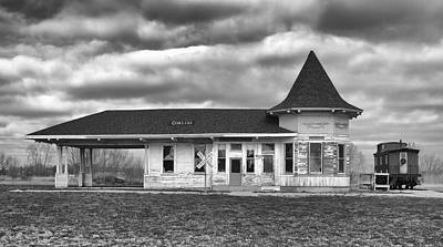Art Print featuring the photograph Sturtevant Old Hiawatha Depot by Ricky L Jones