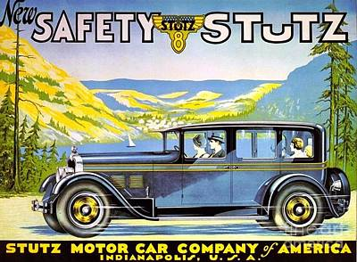 Painting - Stutz Motor Car Poster by Roberto Prusso