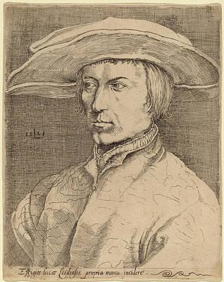 Self-portrait Drawing - Style Of Lucas Van Leyden After Albrecht Dürer by Quint Lox