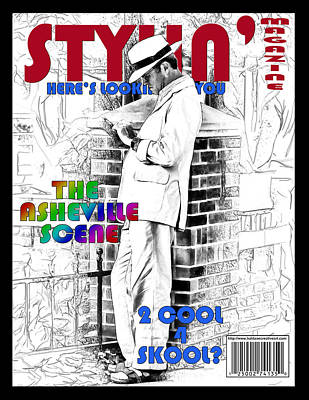 Digital Art - Stylin Magazine Faux Cover by John Haldane