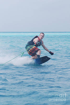 Wakeboarder Photograph - Styling Wakeboarder by DejaVu Designs