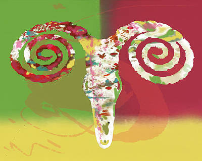 Panda Mixed Media - Stylised Animal Art Poster by Kim Wang