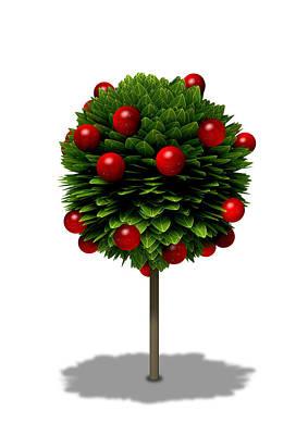 Farming Digital Art - Stylized Apple Tree by Allan Swart