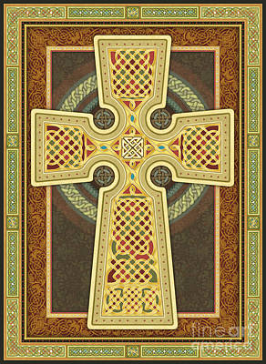 Digital Art - Stylized Celtic Cross by Randy Wollenmann