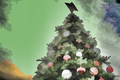 Digital Art - Stylized Christmas Tree by Audreen Gieger