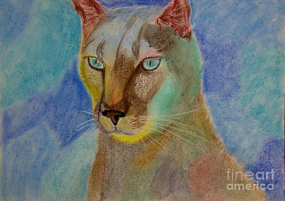 Wall Art - Painting - Stylized Puma by Cybele Chaves