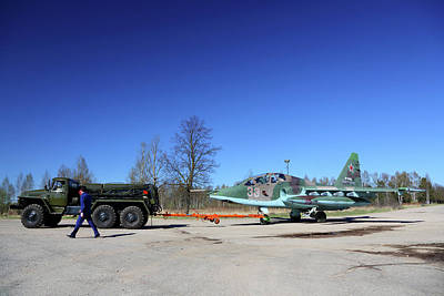 Sukhoi Photograph - Su-25ub Attack Aircraft Of The Russian by Artyom Anikeev