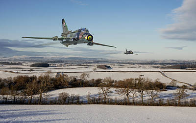 Snow Landscape Digital Art - Su22 - Red Storm by Pat Speirs