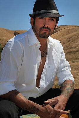 White Shirt Photograph - Suave by Laurie Search