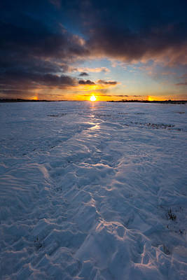 Minnesota Photograph - Sub-zero Sunset by Aaron J Groen