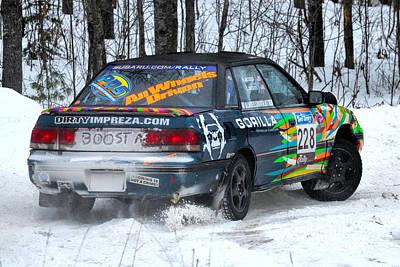 Subaru Rally Photograph - Subaru Car 228 by Rick Jackson