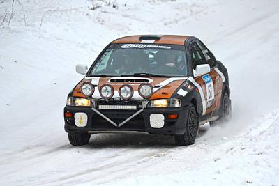 Subaru Rally Photograph - Subaru Car 57 by Rick Jackson