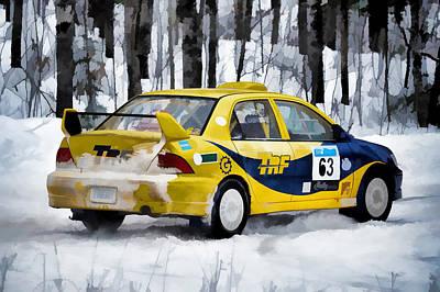 Subaru Rally Photograph - Subaru Car 63 by Rick Jackson
