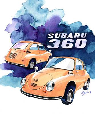 Subaru 360 Art Print by Yoshiharu Miyakawa