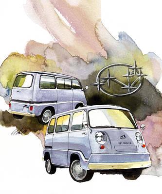 Subaru Samber 360 Art Print by Yoshiharu Miyakawa