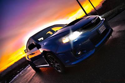 Blue Subaru Photograph - Subaru Sunset by Matteo Alfieri